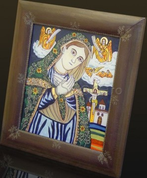 20-297x359 Icoana pe sticla, Maica Domnului indurerata cu Iisus pe cruce